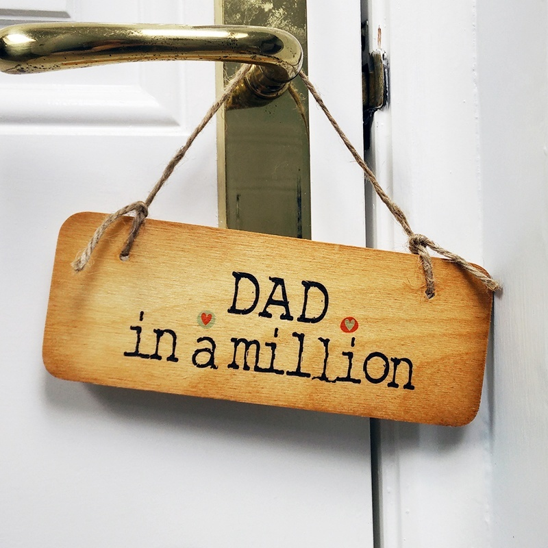 Wooden door sign dad in a million north east gifts - Wooden door signs for home ...