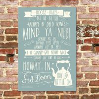 Geordie House Rules Tea Towel