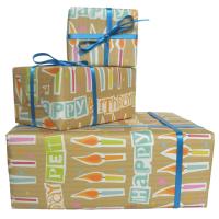Happy Birthday Pet Geordie Gift Wrap