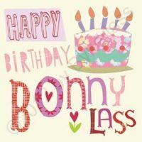 Happy Birthday Bonny Lass Geordie Card
