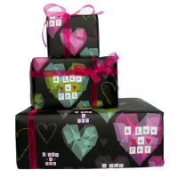 I Luv u Pet Geordie Gift Wrap