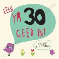Eeeh Ya 30 Geet In Geordie Card