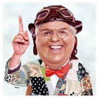 Paul Hutchinson Caricature Chubby Brown
