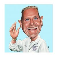 Paul Hutchinson Caricature Paul Gascoigne Gazza