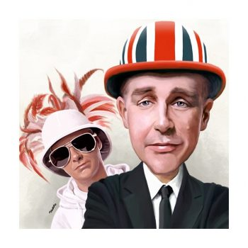 Paul Hutchinson Caricature Pet Shop Boys