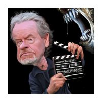 Paul Hutchinson Caricature Ridley Scott