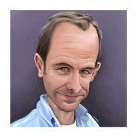 Paul Hutchinson Caricature Robson Green