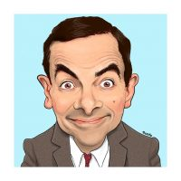 Paul Hutchinson Caricature Rowan Atkinson
