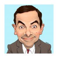 Paul Hutchinson Caricature Rowan Atkinson