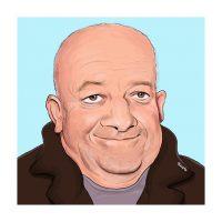 Paul Hutchinson Caricature Tim Healy