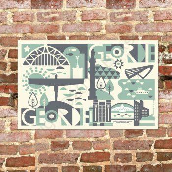 Geordie City Tea Towel