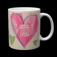 Geordie Mug - A Luv U Pet - Pink