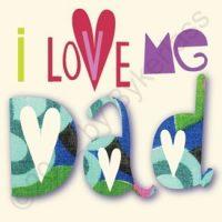 Love Me Dad Geordie Card