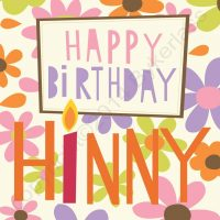 Geordie Card Happy Birthday Hinny - Cards for Geordies