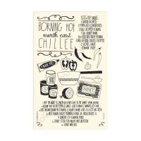 North East Chilli Recipe Tea Towel