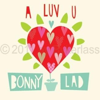 A Luv U Bonny Lad Geordie Card