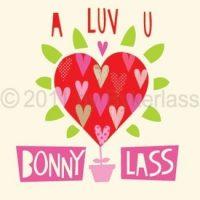 A Luv U Bonny Lass Geordie Card