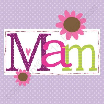 Mam Card Mothers Day Birthday Card