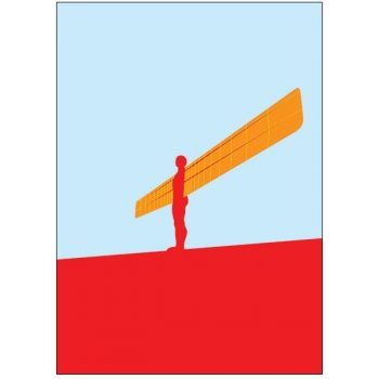 Angel Of The North Pop Art Card