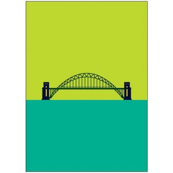 Pop Art Card Tyne Bridge