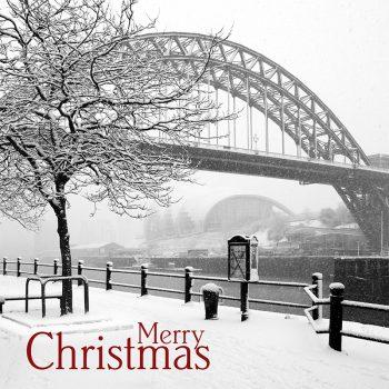 Newcastle Quayside Snow Christmas Card