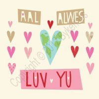 Northumbrian Card - Aal Alwes Luv Yu
