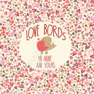 Geordie Valentine's Day Card - Love Bords