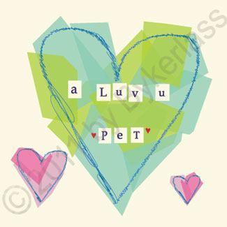 Geordie Valentine's Day Card - A Luv U Pet