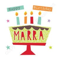 Mackem Card - Happy Birthday Marra!