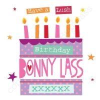 Mackem Card - Have A Lush Birthday Bonny Lass