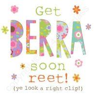 Mackem Card - Get Berra Soon Reet!