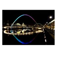 Quayside Bridges at Night Photo Print by Daniel Dent