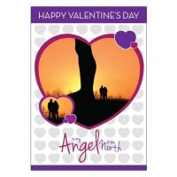 Angel of the North Valentines Card