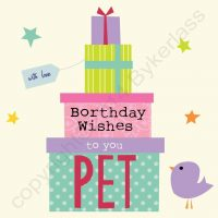 Borthday Wishes To You Pet Northumbrian Birthday Card