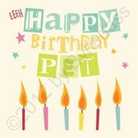 Geordie Card - Happy Birthday Pet