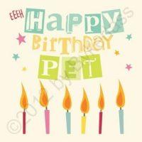 Geordie Card - Happy Birthday Pet