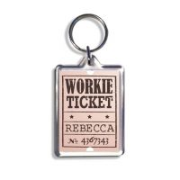 Geordie Keyring - Workie Ticket