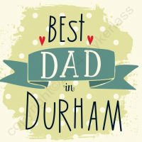 Best Dad in Durham Geordie Card