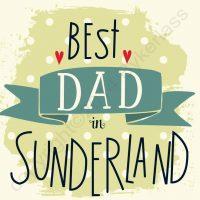 Best Dad in Sunderland Mackem Card