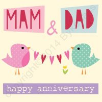 Happy Anniversary Mam & Dad Card