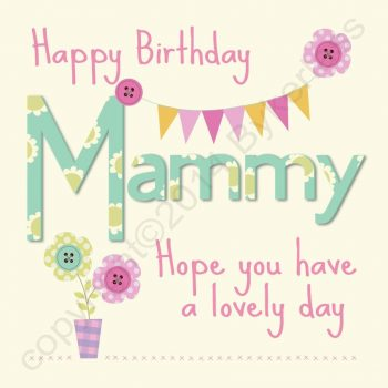Happy Birthday Mammy Card