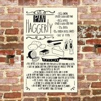 Pan Haggerty Recipe Tea Towel North East