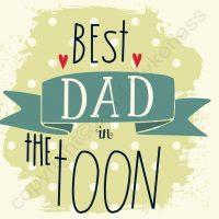 Best Dad in The Toon Geordie Card