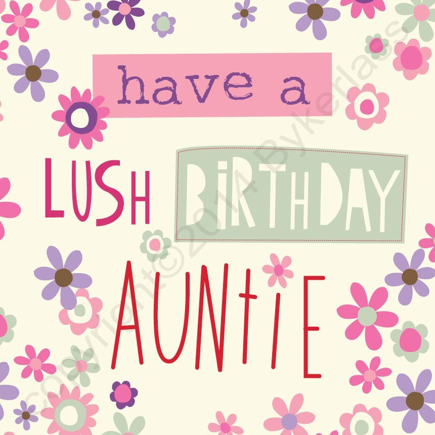 Geordie Card Happy Birthday Auntie
