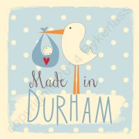 Made in Durham New Baby Boy Card
