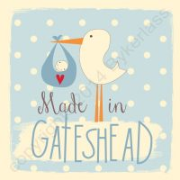 Made in Gateshead New Baby Boy Card