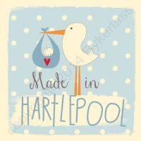 Made in Hartlepool New Baby Boy Card