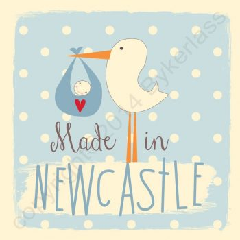 Made in Newcastle New Baby Boy Card