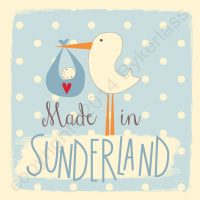 Made in Sunderland New Baby Boy Card