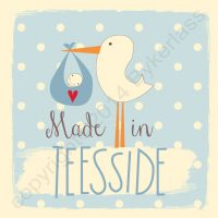 Made in Teesside New Baby Boy Card